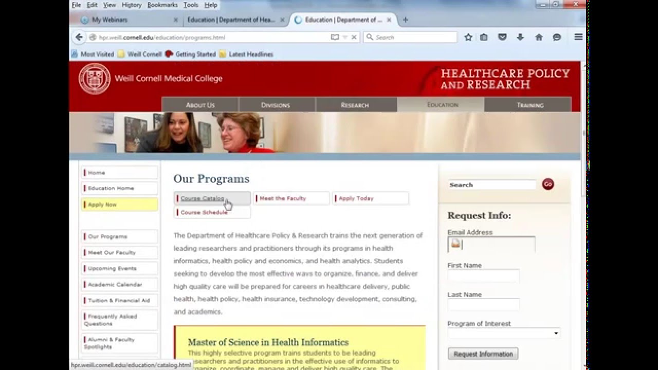 Ms In Health Informatics Certificate In Health Analytics