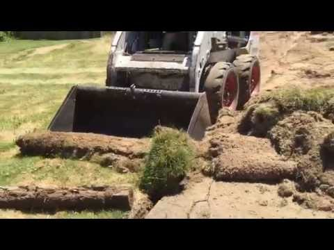 Grass Removal With Bobcat
