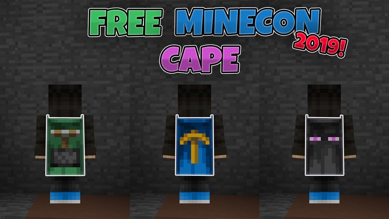 How to get a Minecon Cape Free 2020! - YouTube