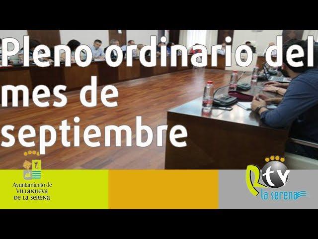 Pleno ordinario del mes de septiembre