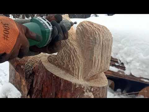 Как вырезать фигуру из дерева бензопилой своими руками