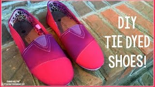 Tie Dyed Shoes | DIY Teen Craft