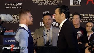 Canelo Alvarez vs Julio Cesar Chavez Jr. FULL Houston Face Off Video