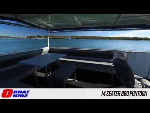 O Boat Hire - 14 Seater BBQ Pontoon