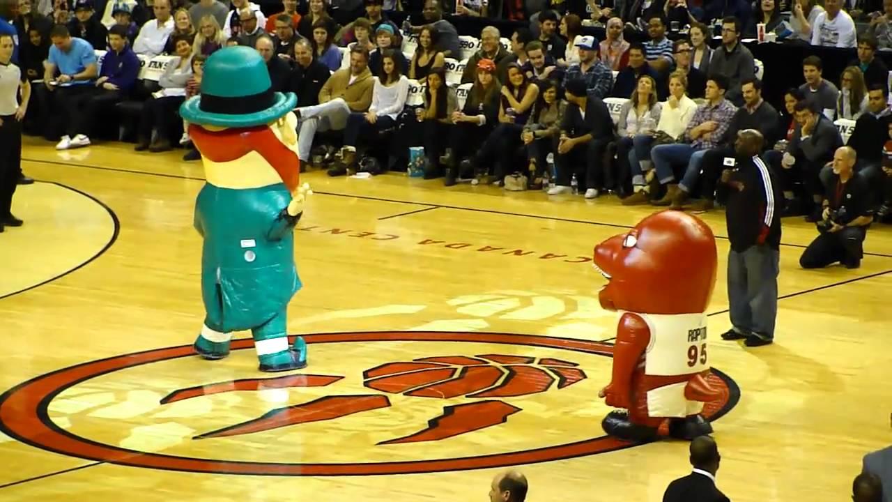 Raptors and Celtics Mascot Dance-Off - YouTube