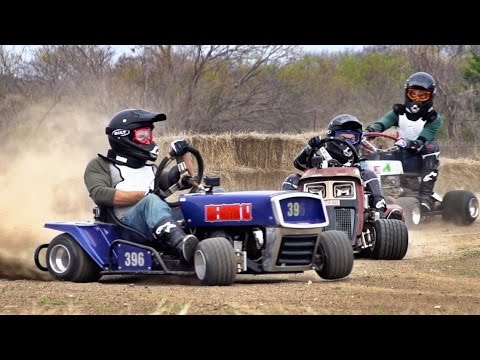 Thumbnail: Lawnmower Racing Battle | Dude Perfect