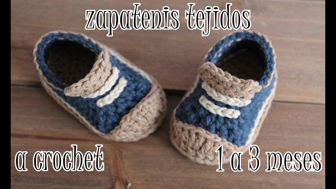 zapatitos nike tejidos a crochet para bebe YouTube