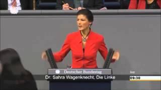 """Sahra wagenknecht: """"kde to žijete, paní merkelová"""""""
