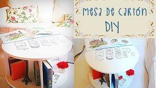Mueble - Mesa De CartÓn - ★diy★ Cardboard Furniture Tutorial