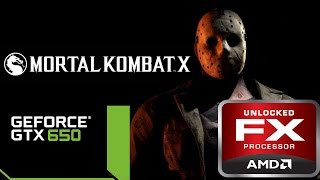 Mortal Kombat X Jason Voorhees Gameplay PC 60 FPS FX 8350 GTX 650