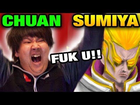 SUMiYa [Invoker] VS ChuaN [TI WINNER] SOLO MID Dota 2