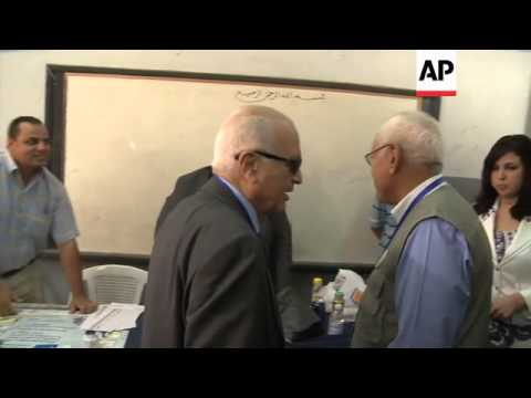 ARAB LEAGUE CHIEF NABIL ELARABY INSPECTS POLLING STATIONS