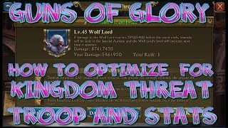 Guns Of Glory KINGDOM THREAT Optimize Setups