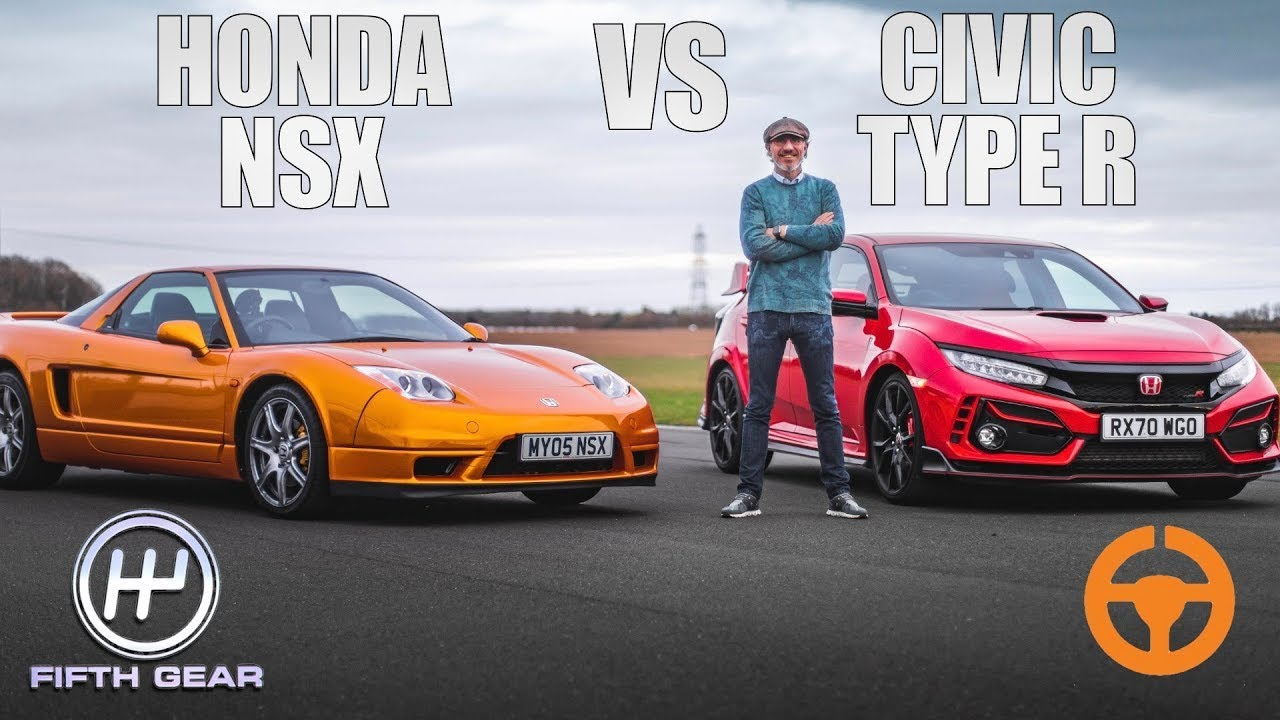 Download Honda NSX vs Civic Type R - Shootout OLD VS NEW   Fifth Gear
