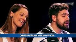 Christina Stürmer mit Baby auf Tour