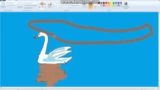 Как рисовать на компьютере лебедя. 1 часть(, 2016-02-17T16:52:53.000Z)