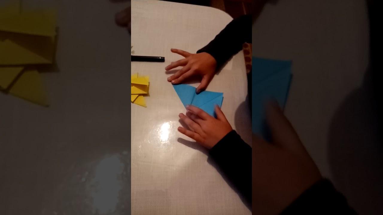 How to a make Moving Fish - Origami İle Hareketli Balık Yapımı