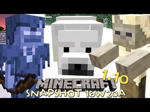 Minecraft 1.10 - NIEUWE MOBS!! IJSBEER, HUSK & STRAY! (snapshot 16w20a)