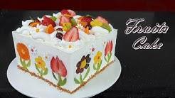 [Eng Sub]  사각 과일 생크림 케이크 만들기 / How to make Fruits Fresh Cream Cake / Soft & Moist Cake Recipe