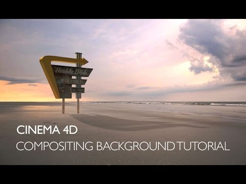 Cinema 4D: compositing background