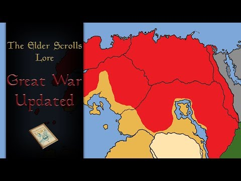 The Great War Explained (With map & Updated) - Elder Scrolls Lore