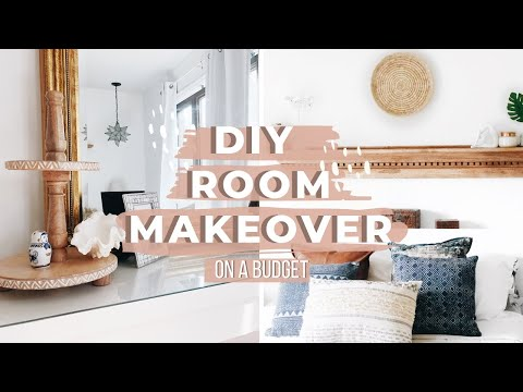 DIY BEDROOM MAKEOVER ON A BUDGET 2019 | Modern Farmhouse | Boho ROOM DECOR