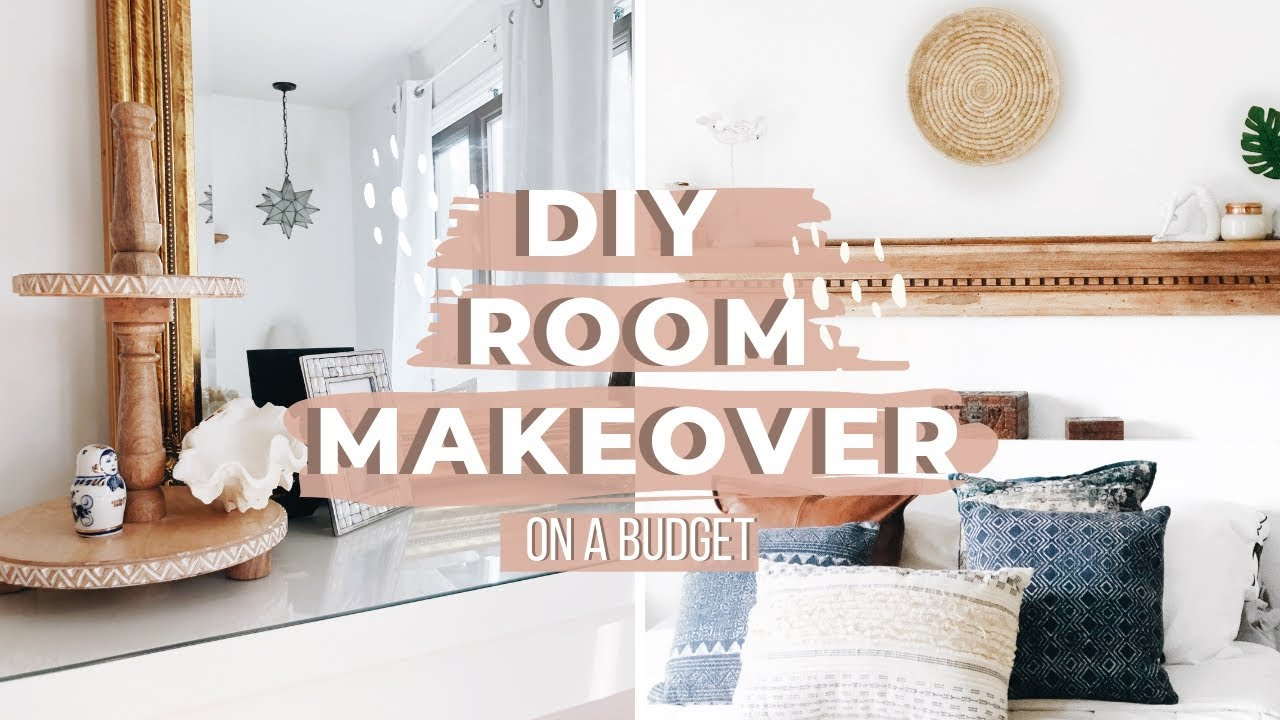 Diy Bedroom Makeover On A Budget 2019 Modern Farmhouse Boho Room Decor Youtube