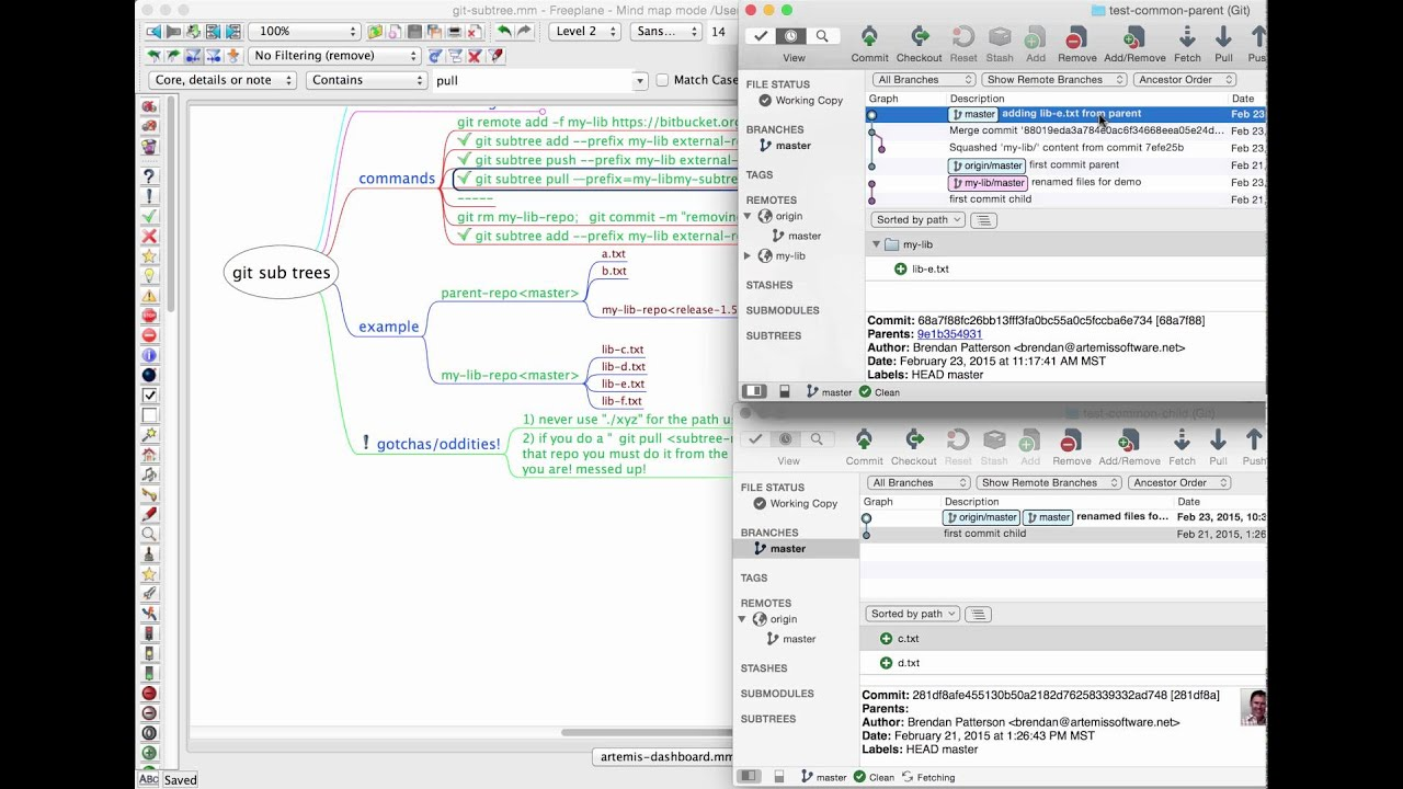 git subtree tutorial and demo!