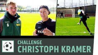 Distanz-Schuss-Challenge vs. Christoph Kramer | Borussia M
