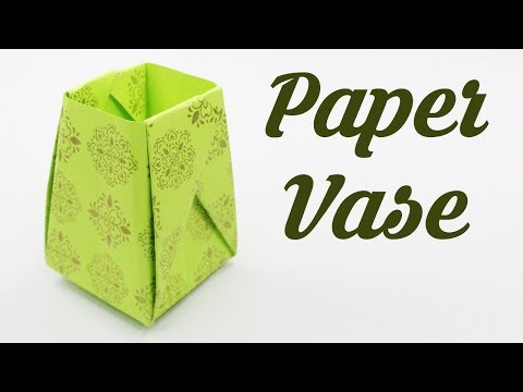 How to make Paper Vase, Easy Basic Simple Origami for Beginners Kids, Crafts Work DIY Ideas Decor