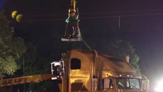 Watch video from the scene of the Jefferson Davis Monument removal in New Orleans