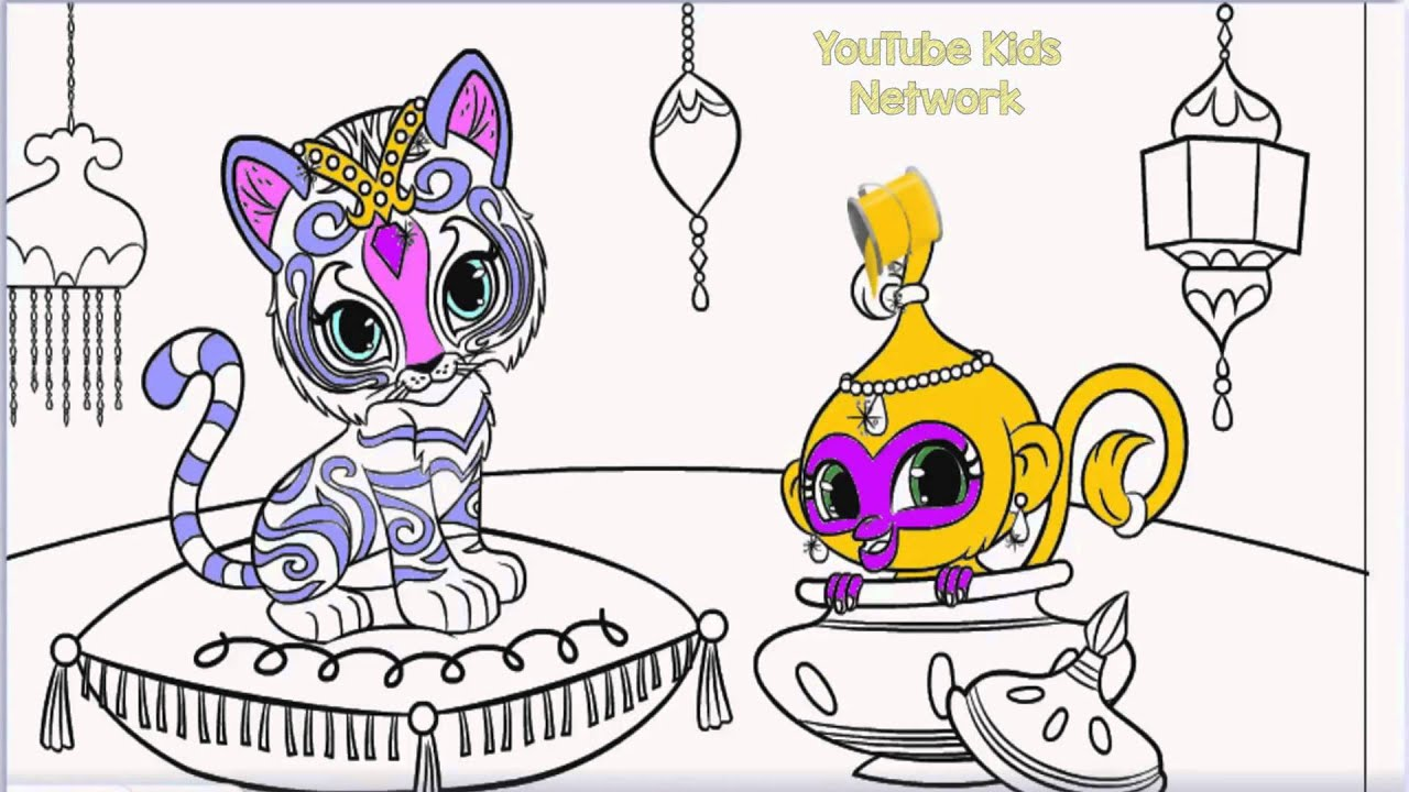 Coloring pages shimmer and shine - Shimmer And Shine Color Episode Nahal And Tala