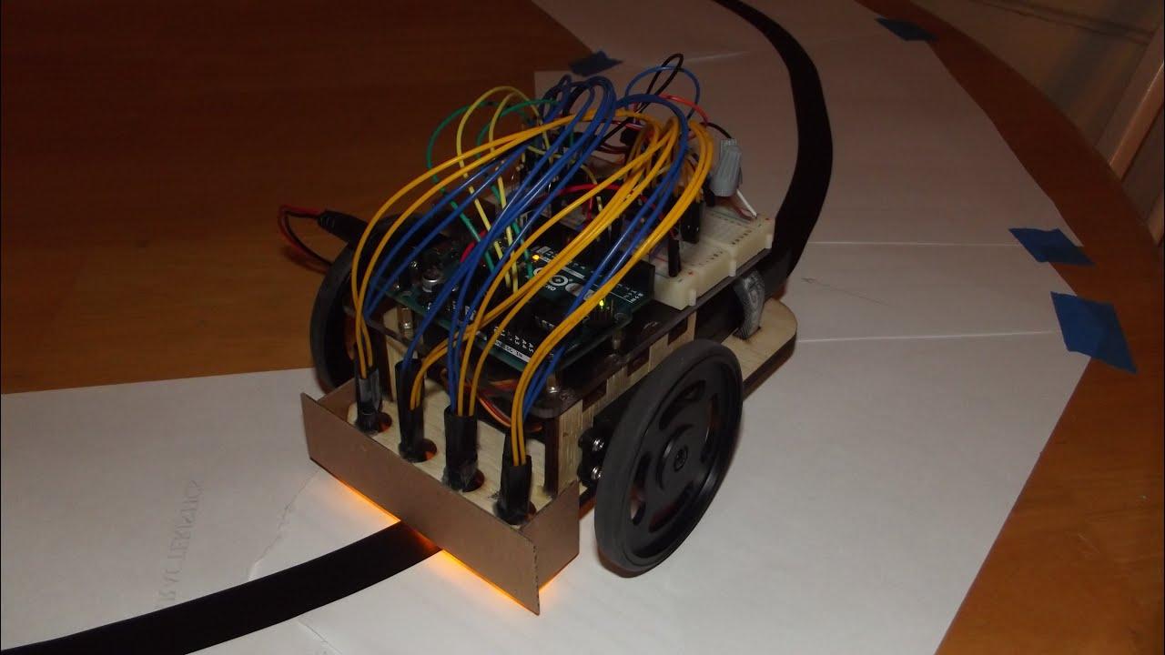 Arduino pid vs bang control of a line following robot