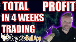 Total Profit In Four Weeks Trading With Crypto Bull App!