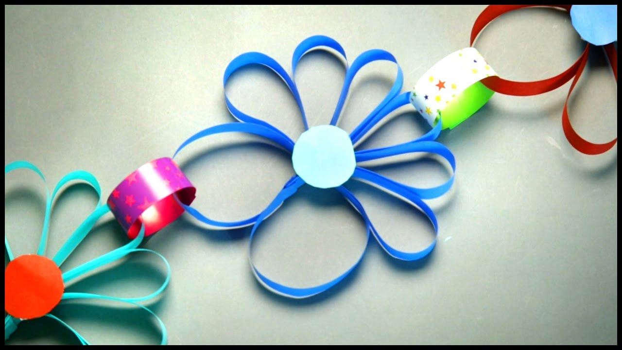 Paper Flowers Craft Works Diy Crafts Art And Craft For Kids