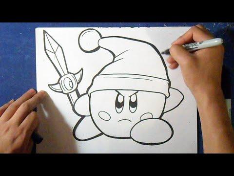 Cómo Dibujar A Kirby Link Leyenda De Zelda 3 How To Draw Kirby