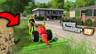 👨🏼🌾 Kosiarka Spalinowa & Prace Porządkowe we Wsi 🔥 Rolnicy Mechanicy ⭐️ Farming Simulator 19 🚜