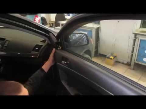 митсубиси галант 2007 снятие обшивки двери
