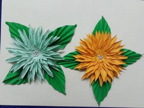 How to make DIY Paper Mums (Chrysanthemum) Tutorial