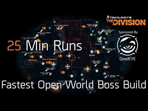 The Division   Best Open World Boss Run Build & Walkthrough   Easy 25 min runs