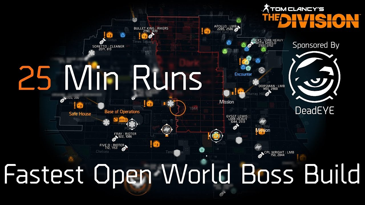 Map Of World Bosses In The Division.The Division Best Open World Boss Run Build Walkthrough Easy