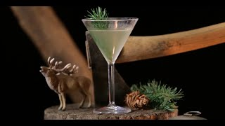 The Douglas Fir Infused Vodka Martini.