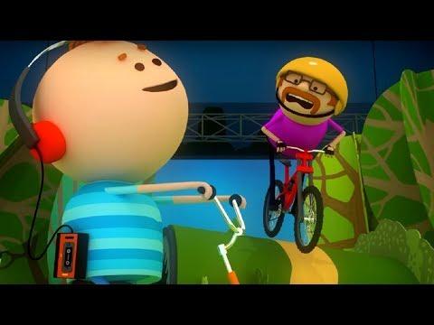 Аркадий Паровозов - Почему опасно кататься на велосипеде в наушниках🚴 - мультфильм детям