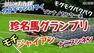 【番外編】珍名馬グランプリ 天皇賞(秋)と同じ舞台で珍馬名の馬たちが激突!
