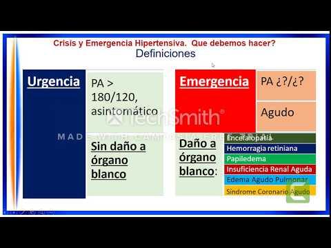 ¿Qué es la crisis de hipertensión urgencia urgencia?