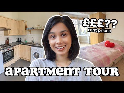MY LONDON APARTMENT TOUR (apartment hunting + rent prices) | clickfortaz