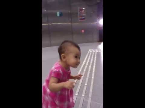 Mary Myoe Sunn Walking Around Singapore Expo MRT Station