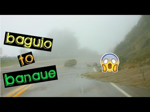 DRIVING To BANAUE In 5 HOURS Only!! THICK FOG!!   ZERO VISIBILITY Driving!!