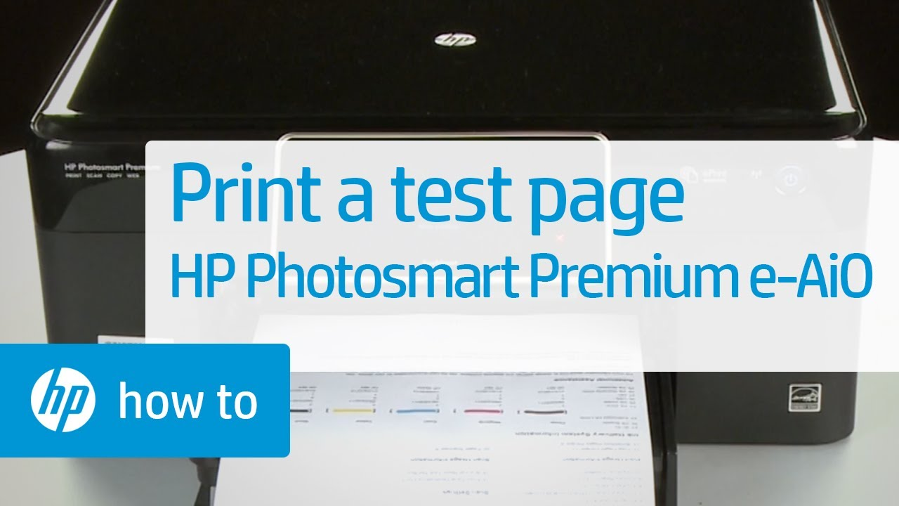 Printing A Test Page Hp Photosmart Premium E All In One