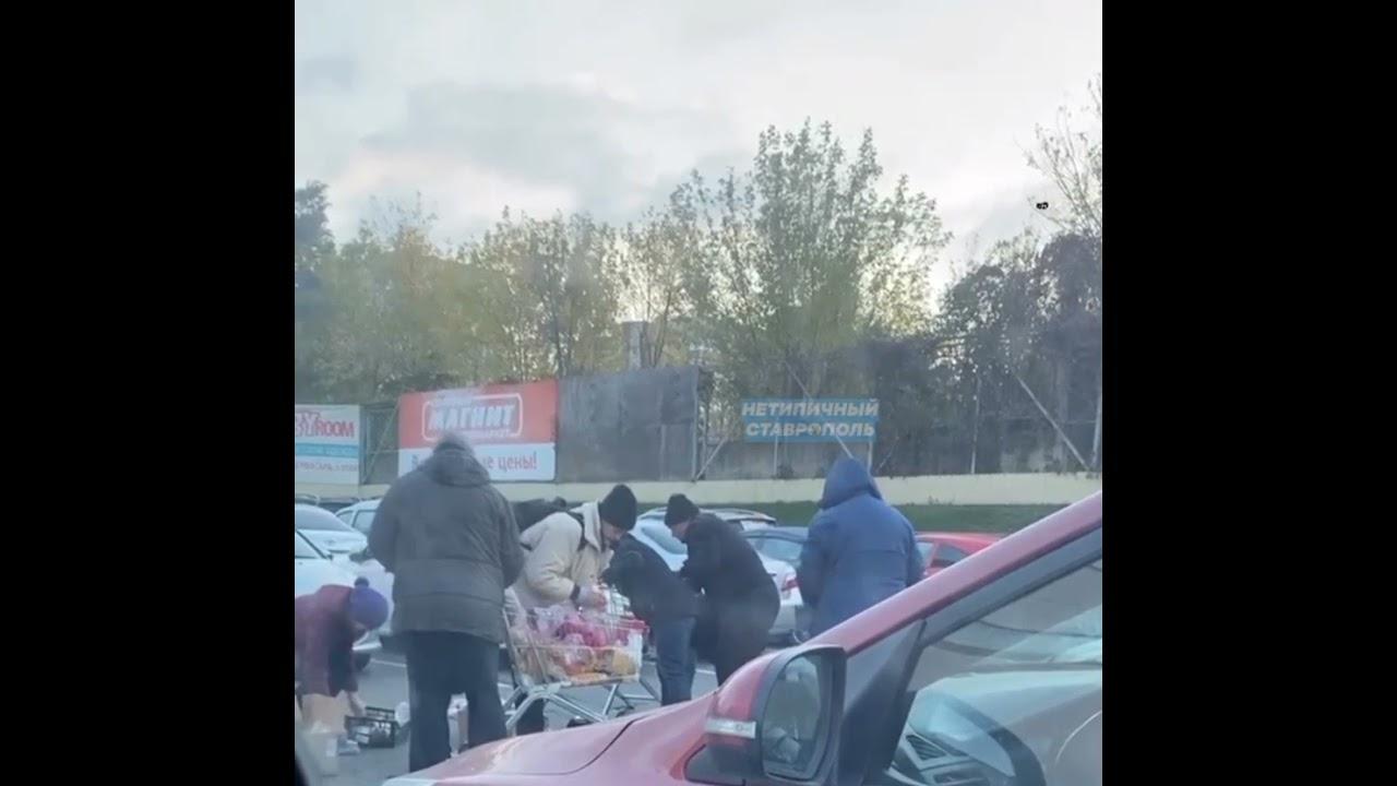 Ставрополь: люди голодают и дерутся за просрочку у мусорного бака!